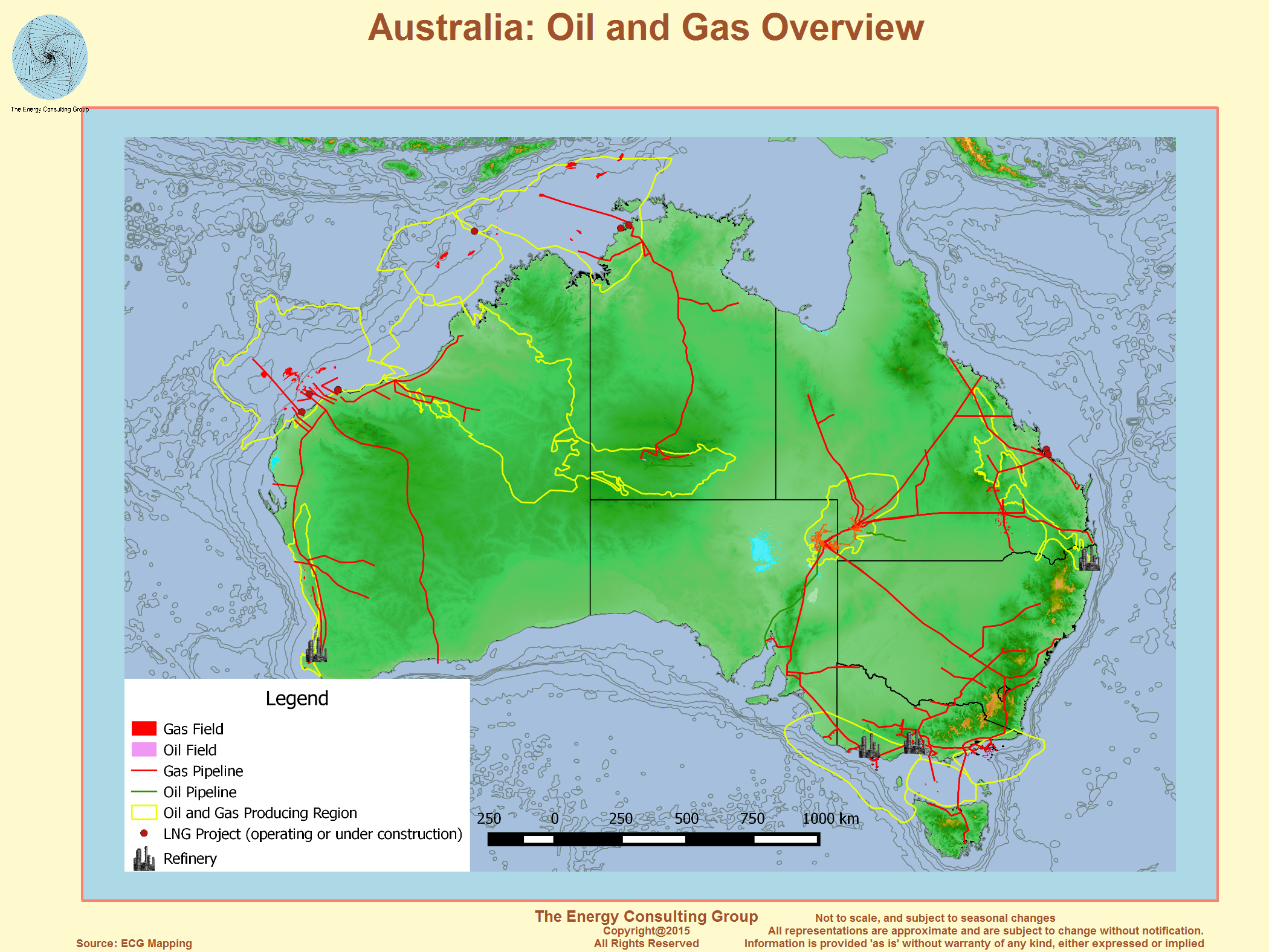 image australia oil and gas overview map