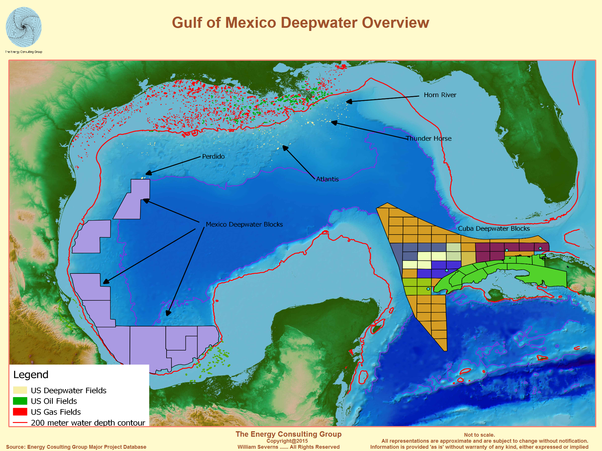 Deepwater Oil And Gas Drilling Offshore Cuba - Us-oil-fields-map