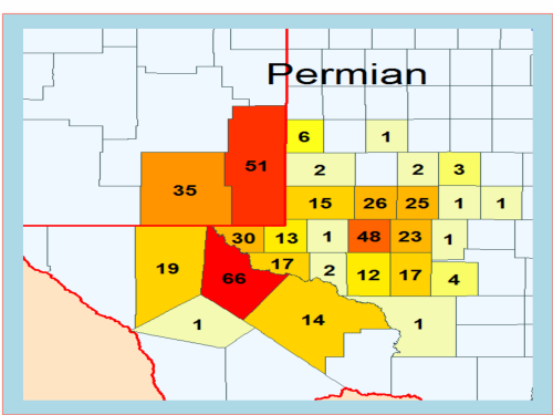 US Drilling Rig Activity Map-Permian Basin