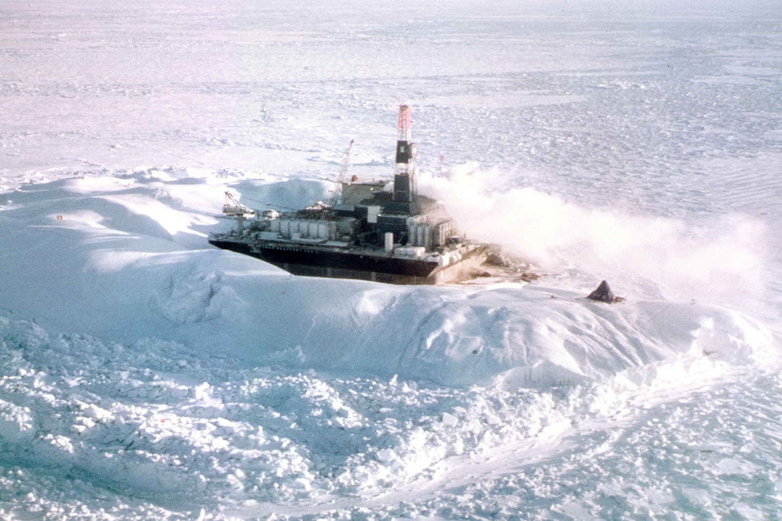 Arctic Beaufort Sea Drilling Operation