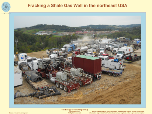 Picture, Image, Fracking a Shale Gas Well in the northeast USA (Marcellus)