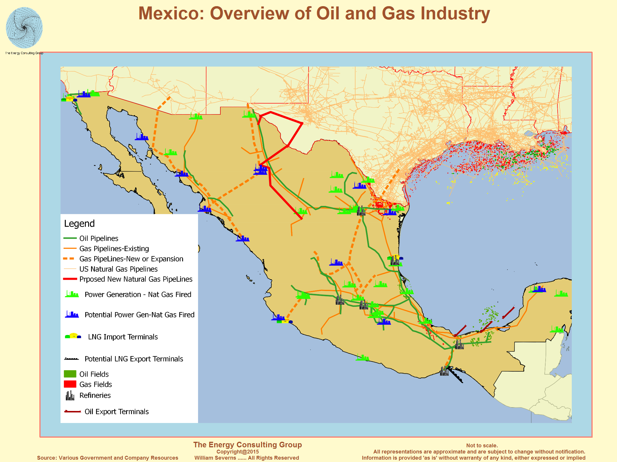 USA Natural Gas Market News - Map of existing us pipelines