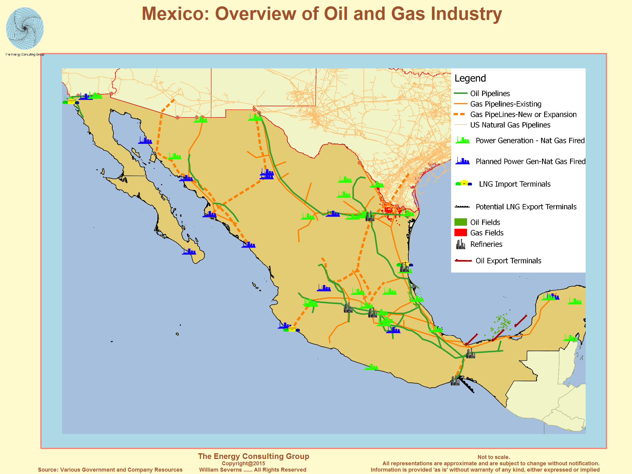 Mexico Major Non Opec Oil Producer - Gasoline-pipeline-map-us