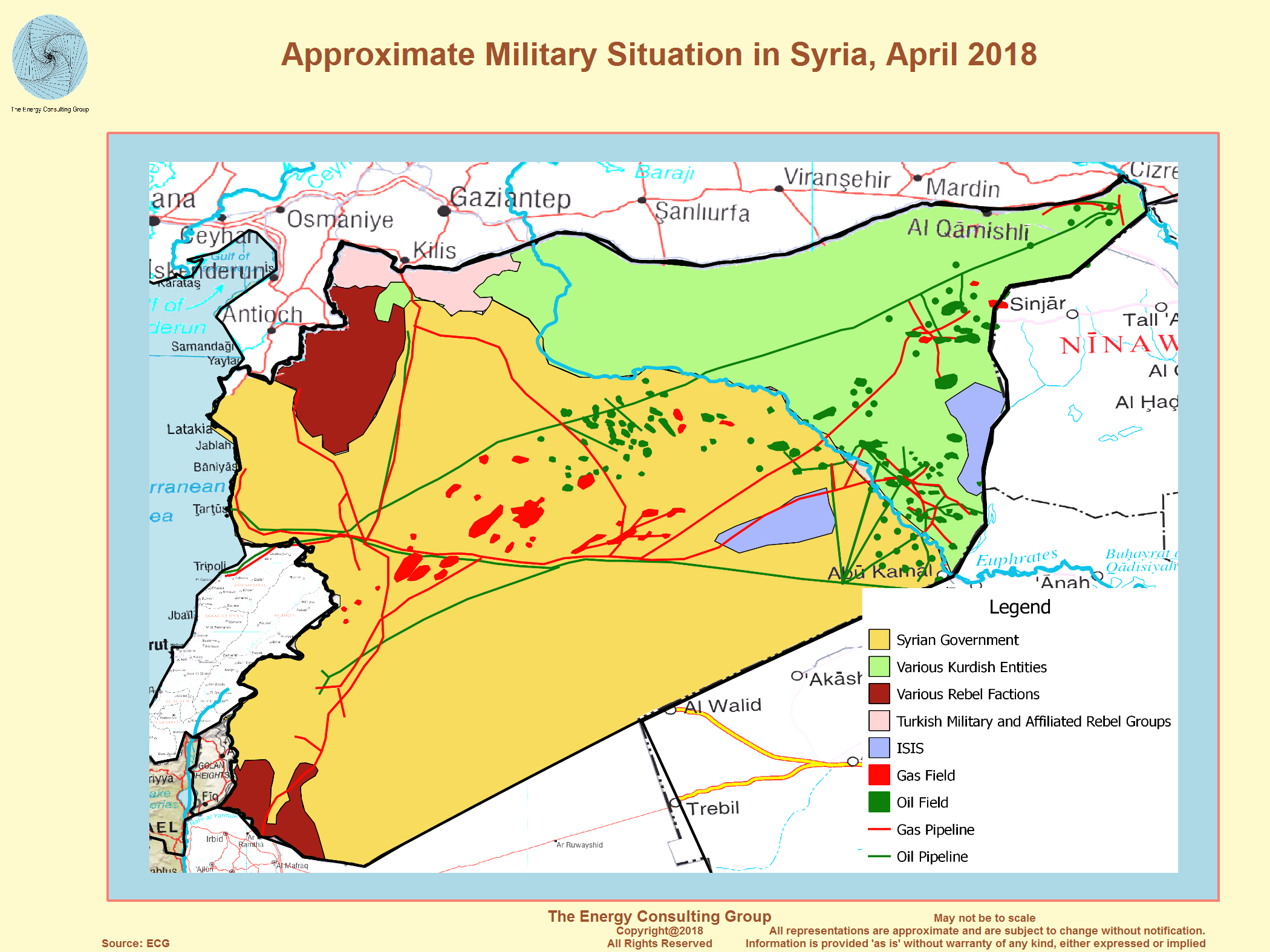 Syria Oil and Gas Overview Map