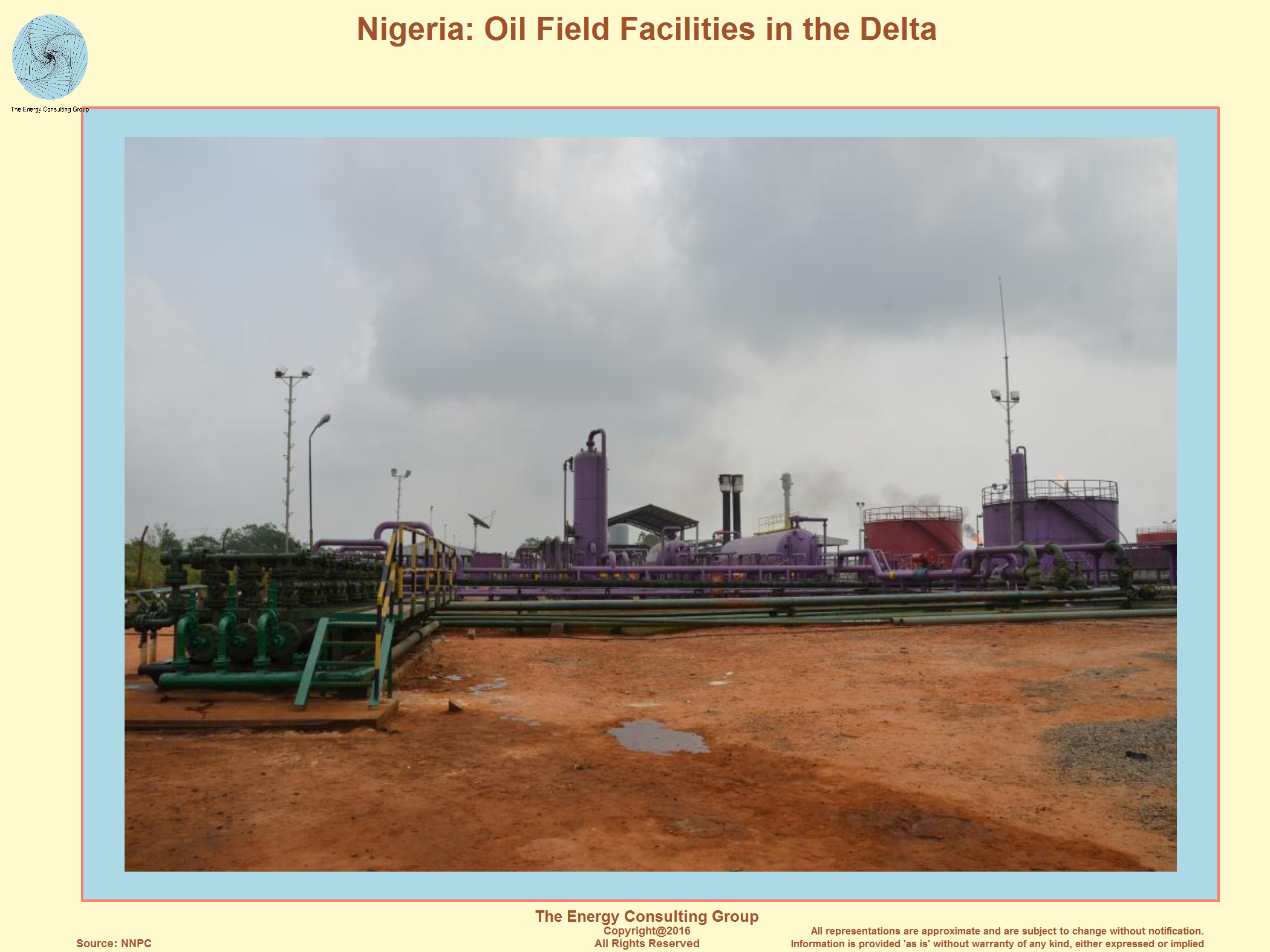 Onshore Nigerian Oil Production Facility
