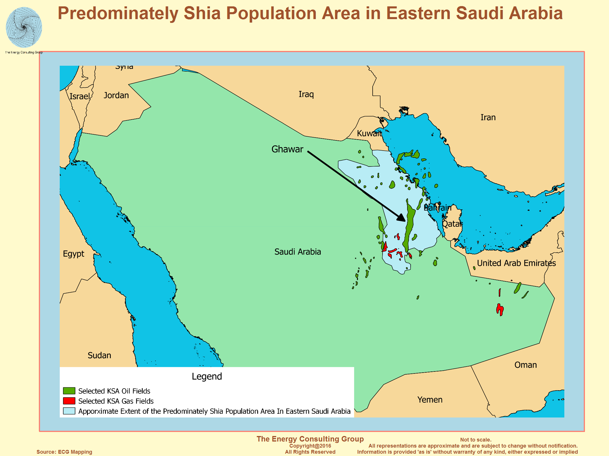 saudi arabia oil and gas industry map summary