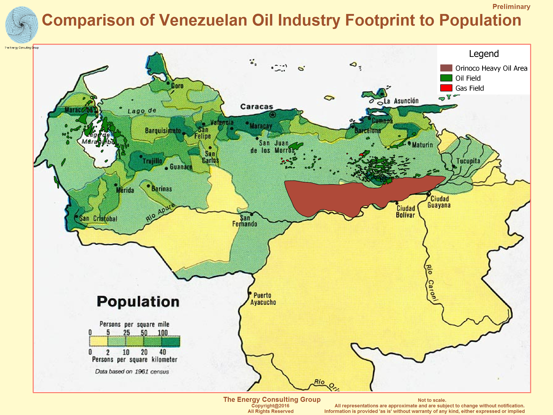 comparison of venezuelan oil industry footprint to population