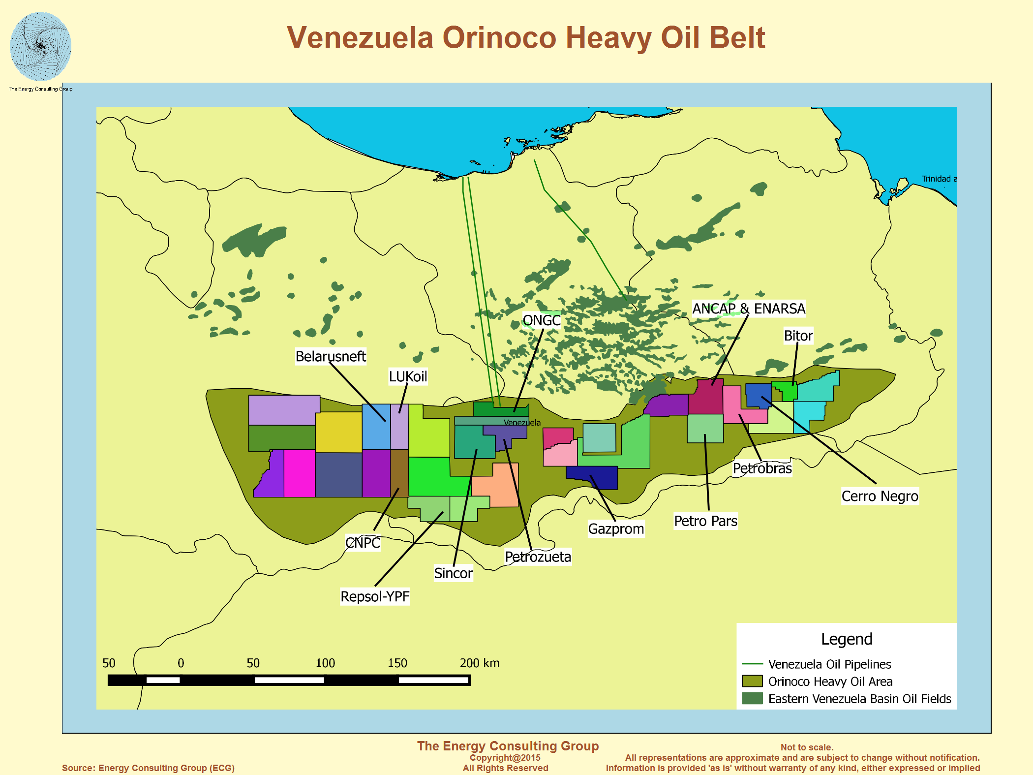 map image venezuela orinoco heavy oil belt energy consulting group william severns
