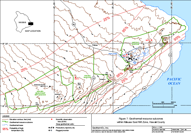 Focus Map of the Geothermal Resources in the Kilauea Rift Zone