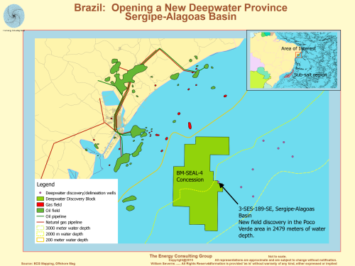 Brazil, deepwater, deep water, sergipe-Alagoas Basin, discovery, good quality sands