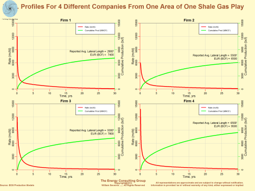 Four Different Production Profiles From One Area of One Shale Gas Play