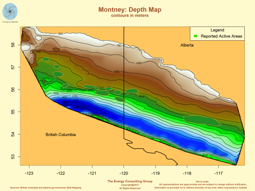 Montney: Depth Map
