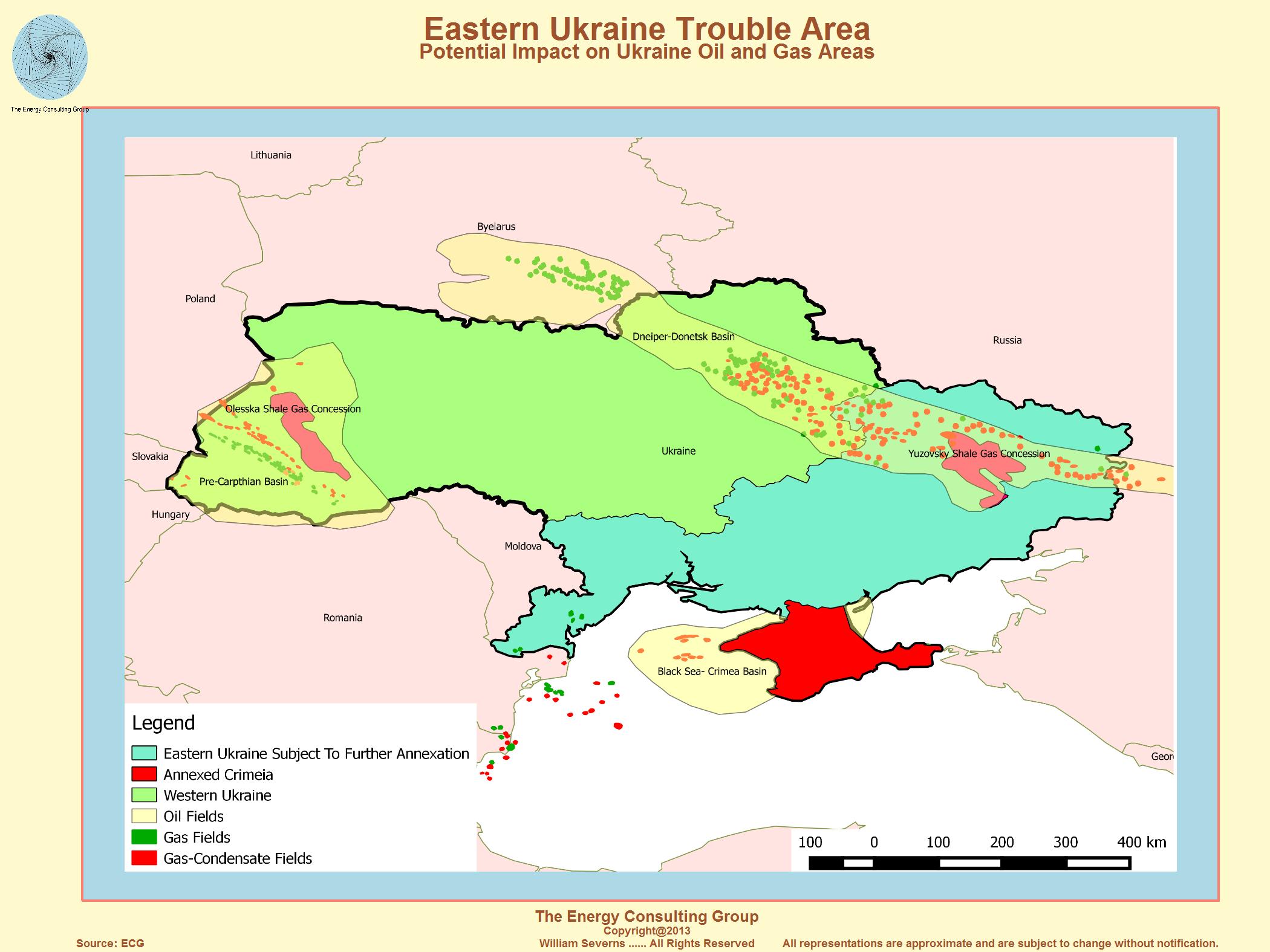 Ukraine Natural Gas Fields